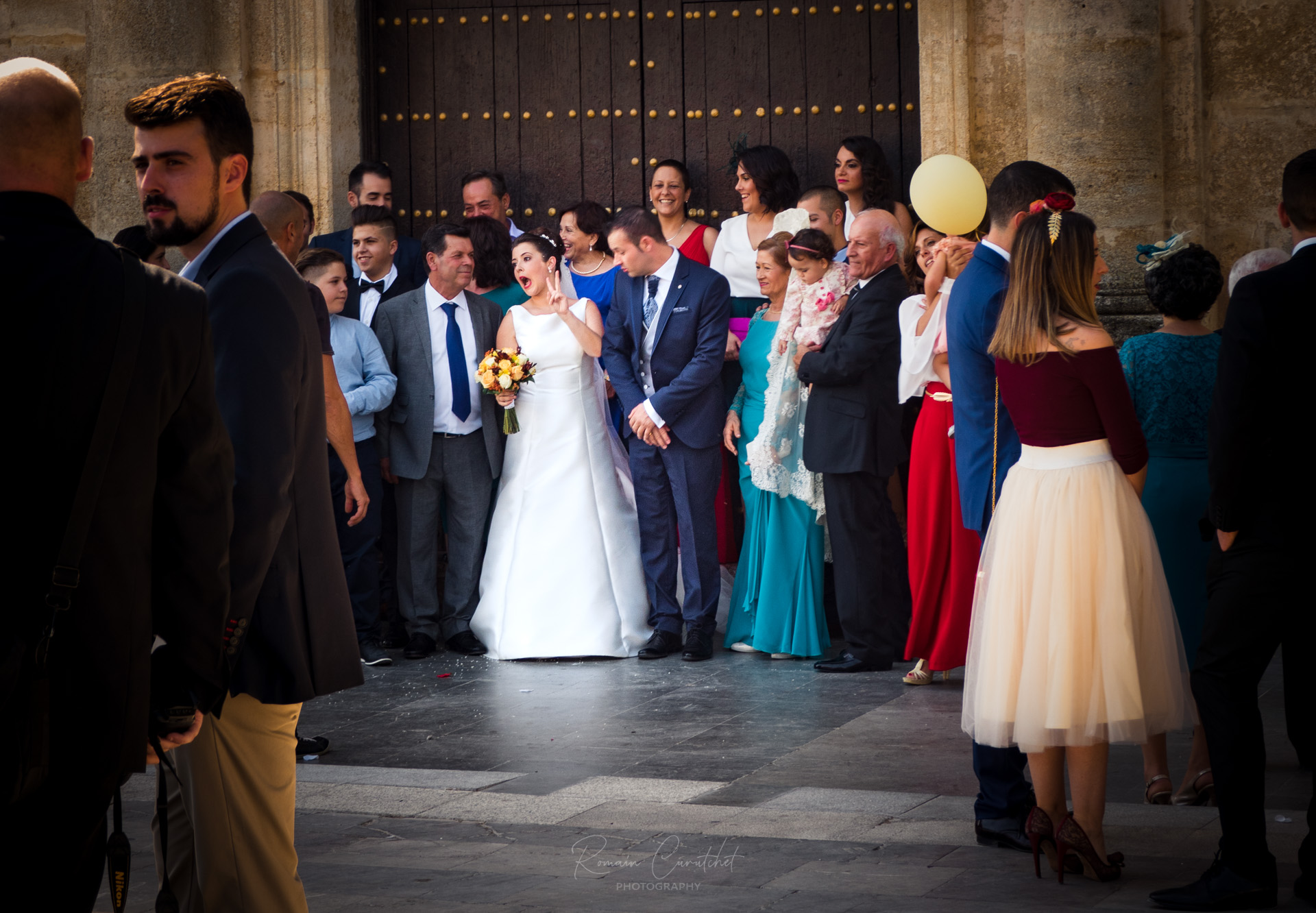 Wedding day in Olvera, Andalucia, Spain