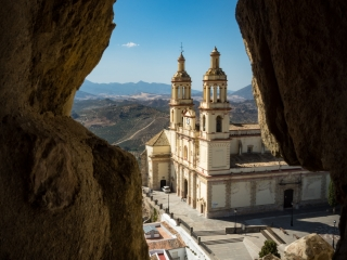 View of the church in Olvera, Andalucia, Spain