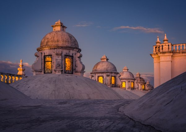 Rooftop of the Leon Cathedral at dusk, Nicaragua © Romain Curutchet