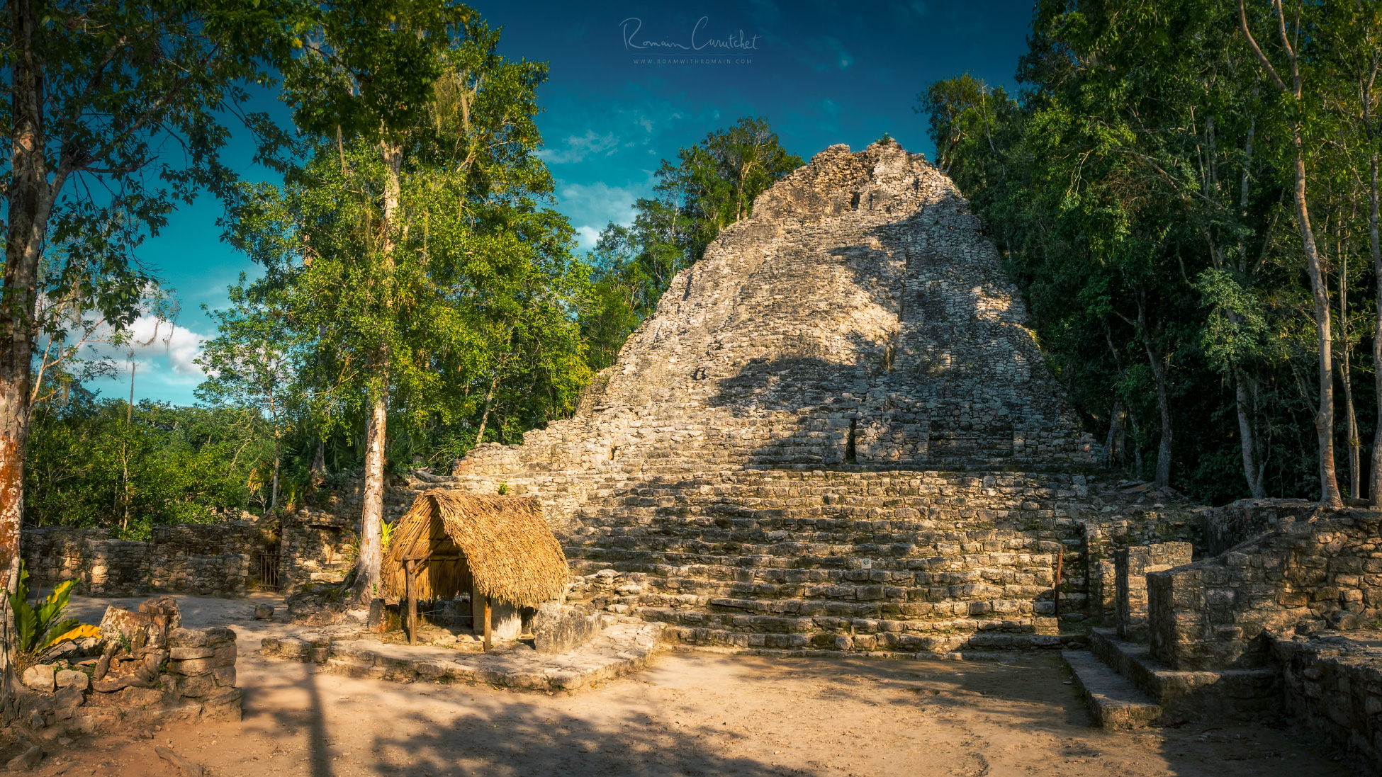 A pyramid in Coba archaeological site, Yucatán